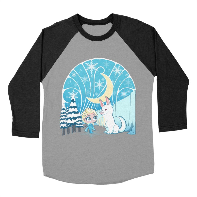 Would you like to make a snowdog? Men's Baseball Triblend T-Shirt by cherished