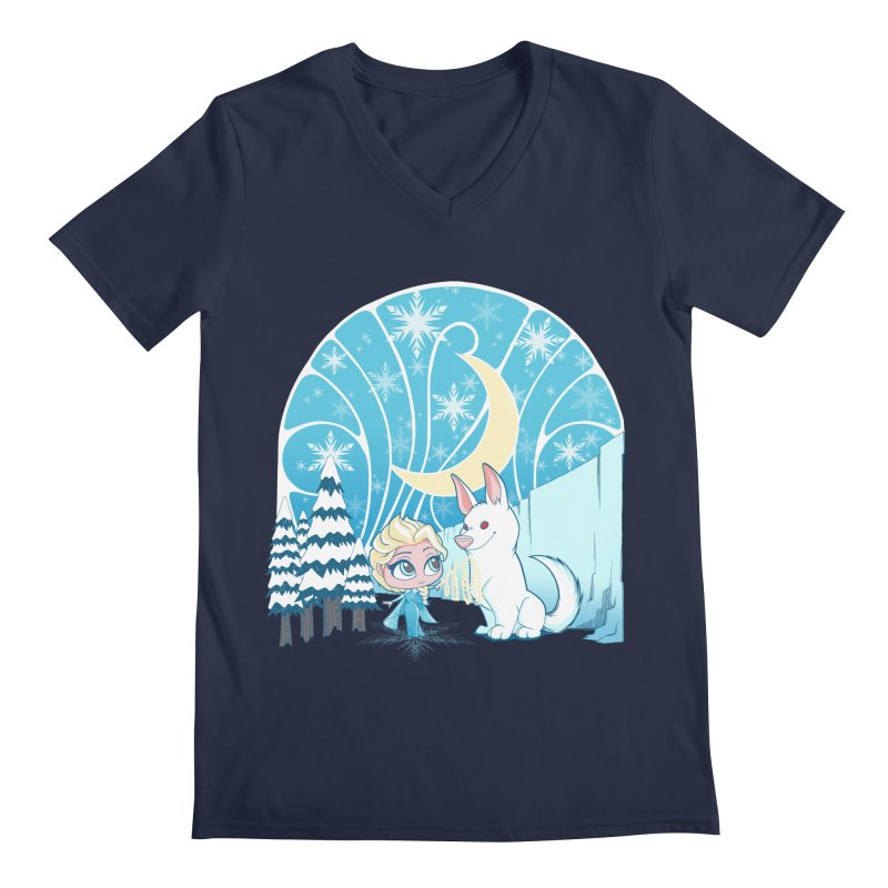 Would you like to make a snowdog? Men's V-Neck by cherished