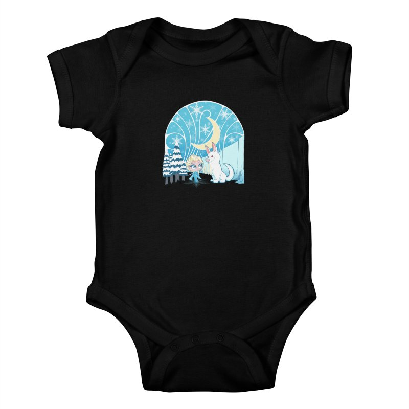 Would you like to make a snowdog? Kids Baby Bodysuit by cherished