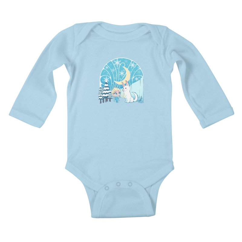 Would you like to make a snowdog? Kids Baby Longsleeve Bodysuit by cherished