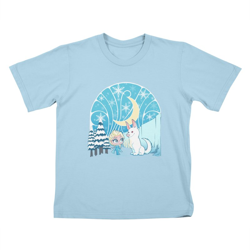 Would you like to make a snowdog? Kids T-shirt by cherished