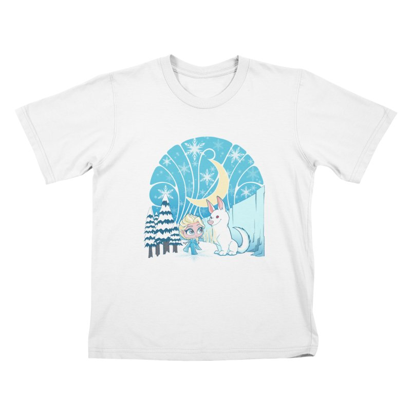 Would you like to make a snowdog? Kids T-Shirt by cherished