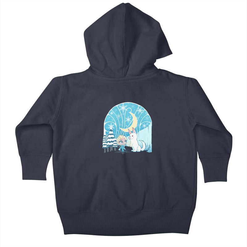 Would you like to make a snowdog? Kids Baby Zip-Up Hoody by cherished