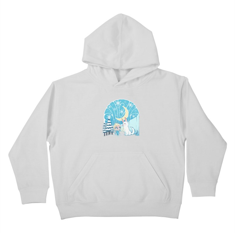 Would you like to make a snowdog? Kids Pullover Hoody by cherished