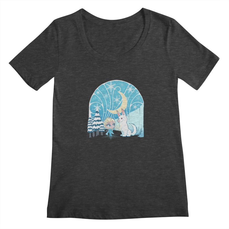 Would you like to make a snowdog? Women's Scoopneck by cherished