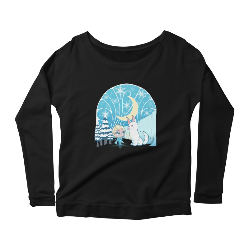 Would you like to make a snowdog? Women's Longsleeve Scoopneck  by cherished