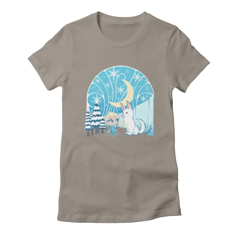 Would you like to make a snowdog? Women's Fitted T-Shirt by cherished