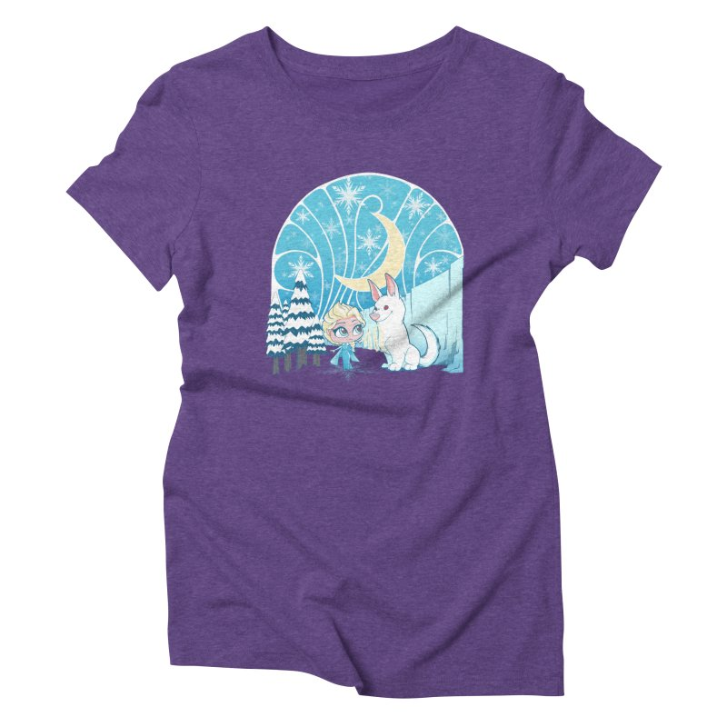 Would you like to make a snowdog? Women's Triblend T-Shirt by cherished