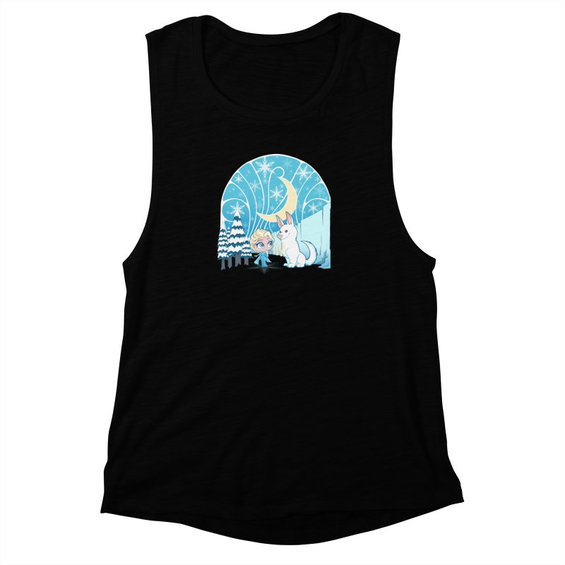 Would you like to make a snowdog? Women's Muscle Tank by cherished