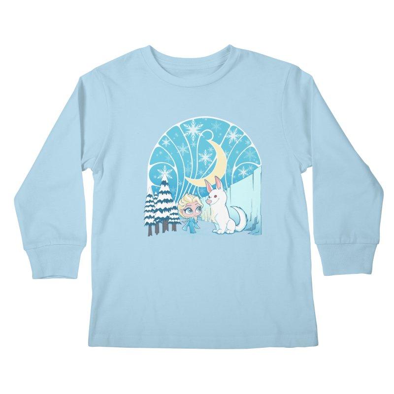 Would you like to make a snowdog? Kids Longsleeve T-Shirt by cherished