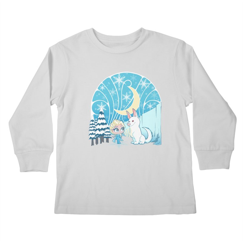 Would you like to make a snowdog? Kids Longsleeve T-Shirt by cherished