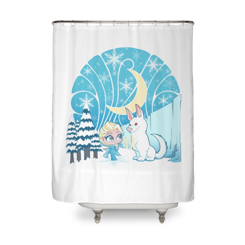 Would you like to make a snowdog? Home Shower Curtain by cherished