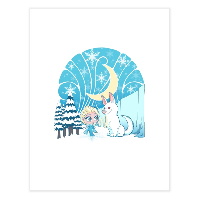 Would you like to make a snowdog? Home Fine Art Print by cherished