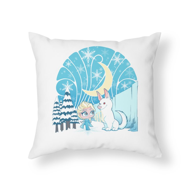 Would you like to make a snowdog? Home Throw Pillow by cherished