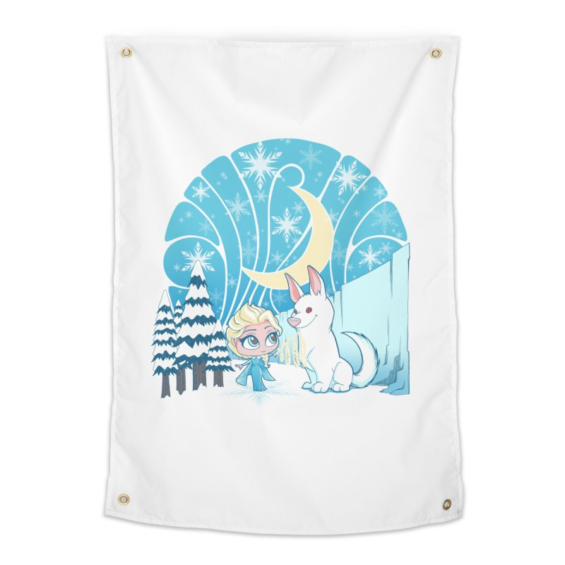 Would you like to make a snowdog? Home Tapestry by cherished