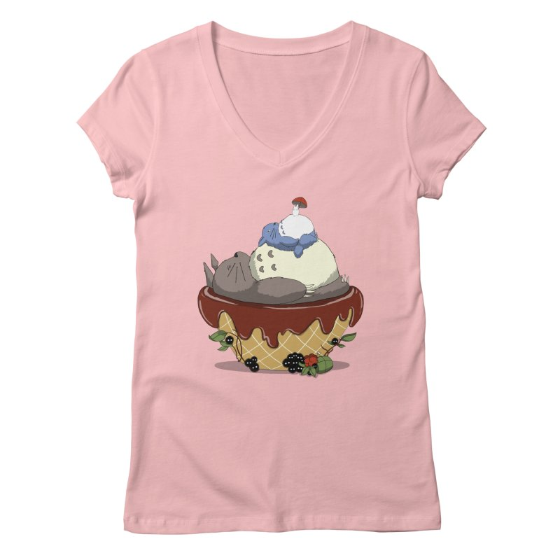 Forest Pudding Women's V-Neck by cherished