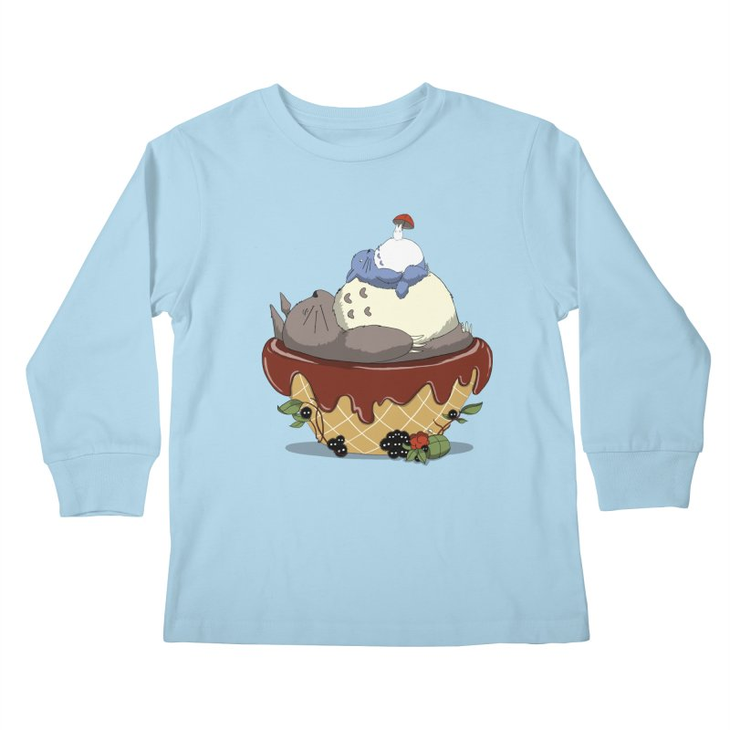 Forest Pudding Kids Longsleeve T-Shirt by cherished