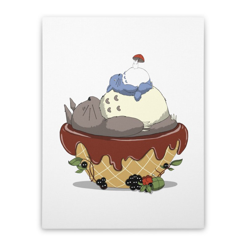 Forest Pudding Home Stretched Canvas by cherished