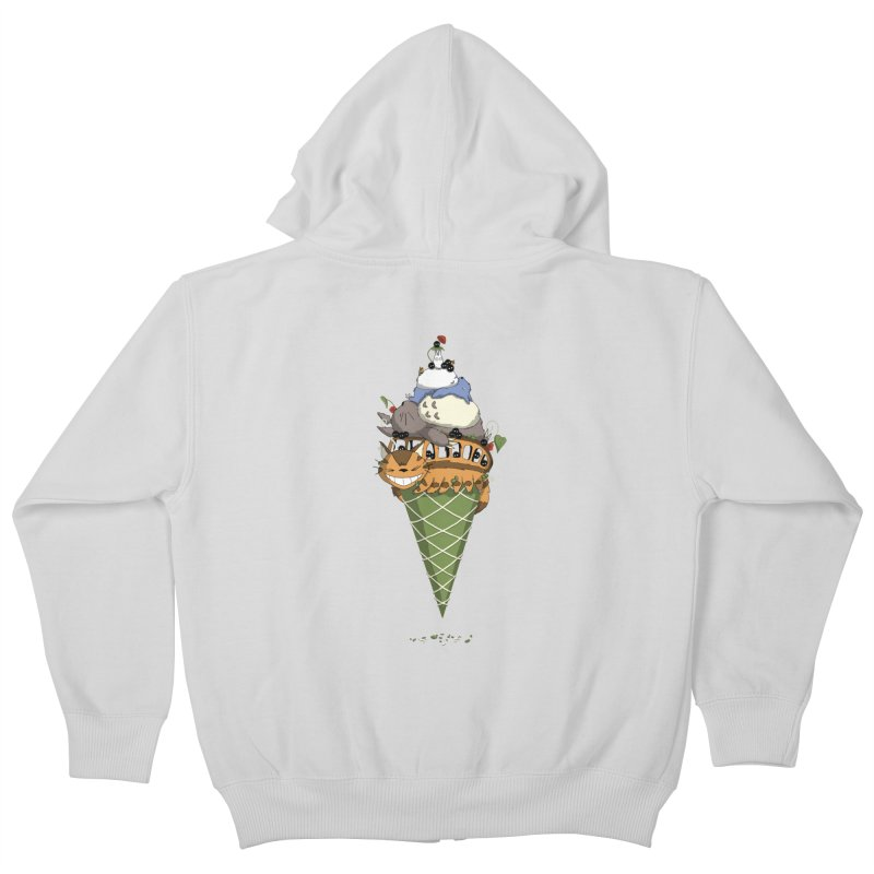 Matcha Forest Gelato Kids Zip-Up Hoody by cherished
