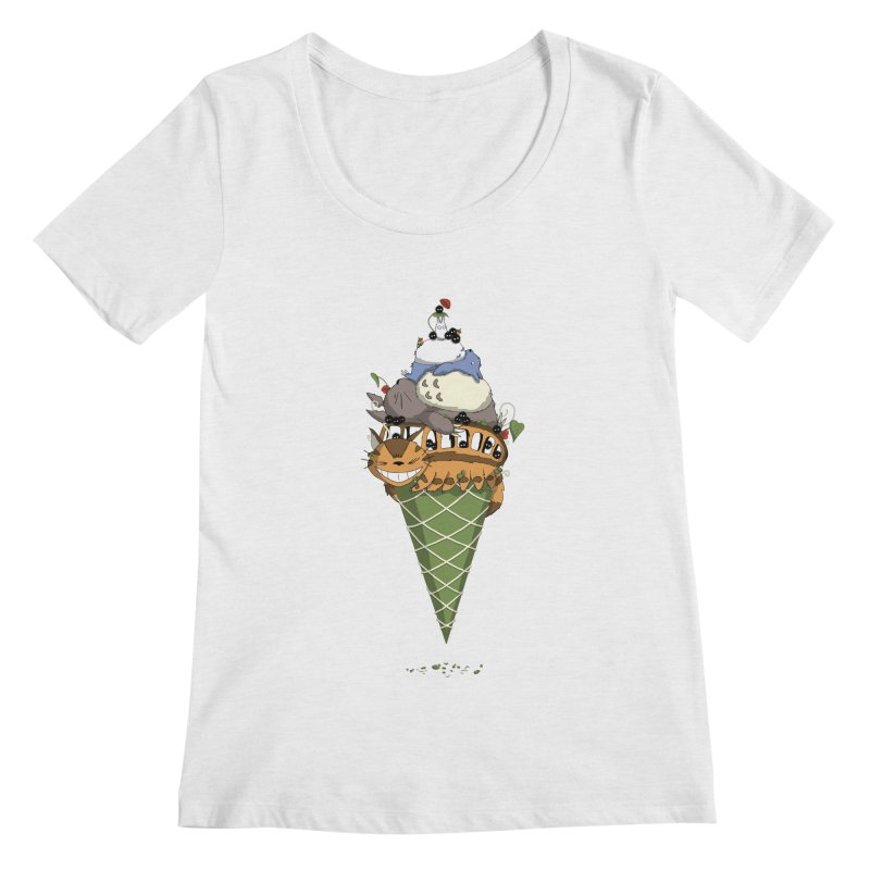 Matcha Forest Gelato Women's Scoopneck by cherished