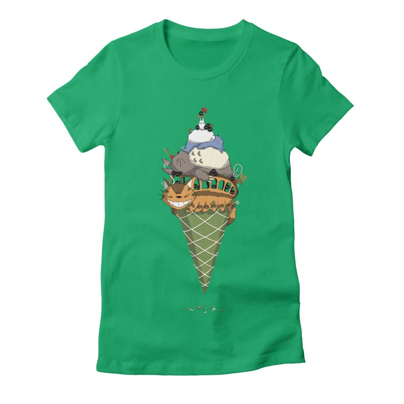 Matcha Forest Gelato Women's Fitted T-Shirt by cherished