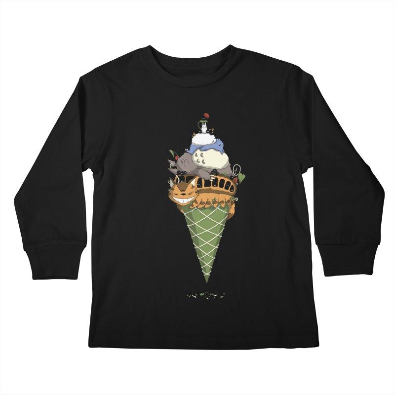Matcha Forest Gelato Kids Longsleeve T-Shirt by cherished