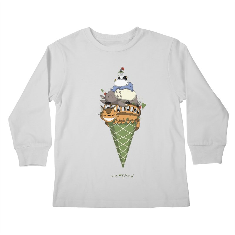 Matcha Forest Gelato Kids Longsleeve T-Shirt by cherished