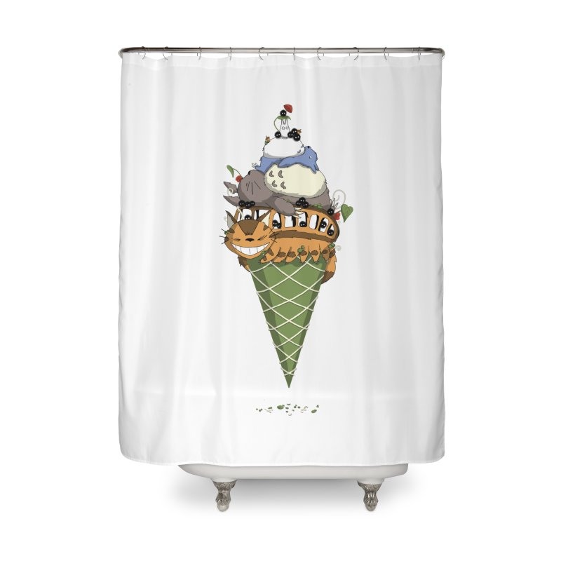 Matcha Forest Gelato Home Shower Curtain by cherished