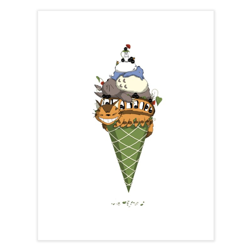 Matcha Forest Gelato Home Fine Art Print by cherished