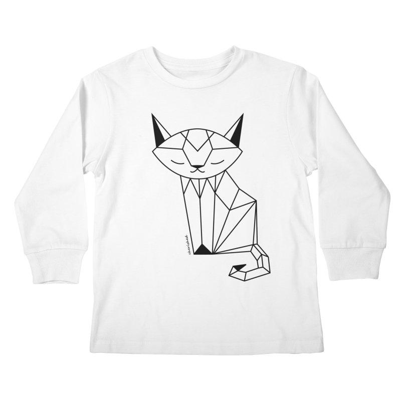 Cherish Cat Kids Longsleeve T-Shirt by cherished