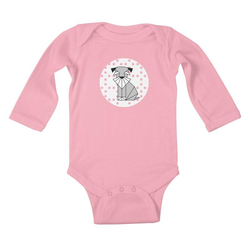 Spirited Schnauzer Kids Baby Longsleeve Bodysuit by cherished