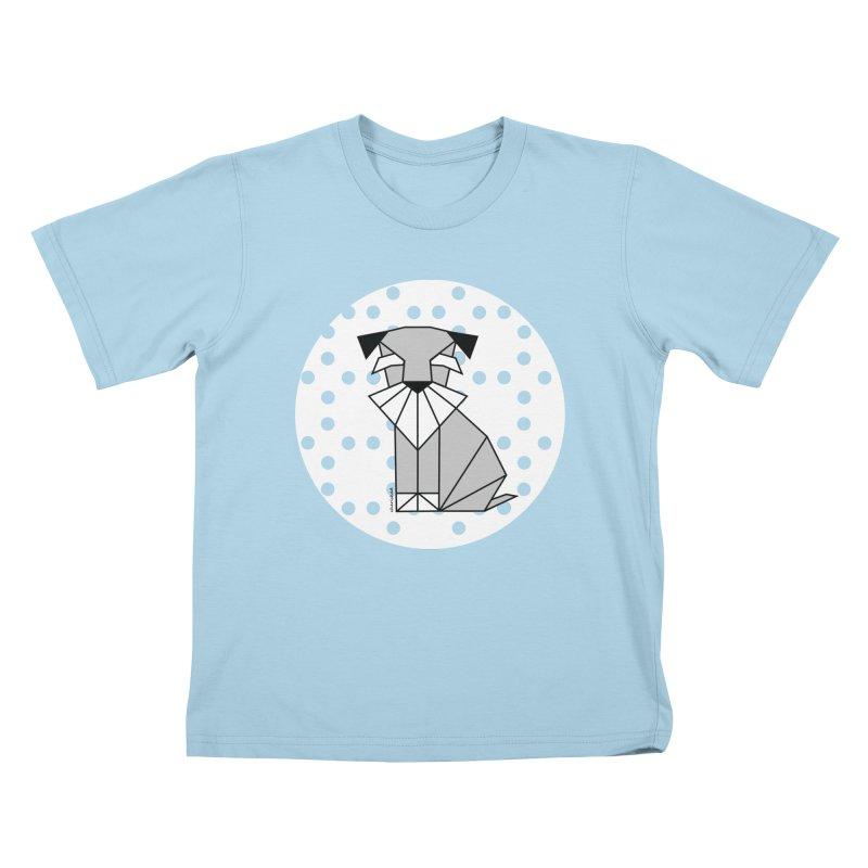 Spirited Schnauzer Kids T-Shirt by cherished