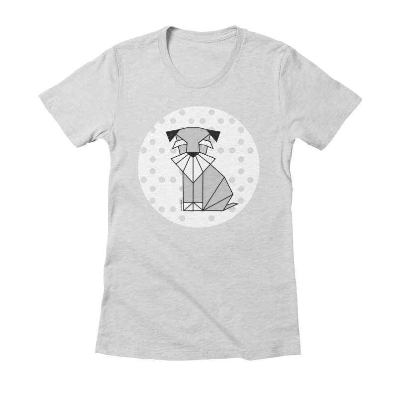 Spirited Schnauzer Women's Fitted T-Shirt by cherished