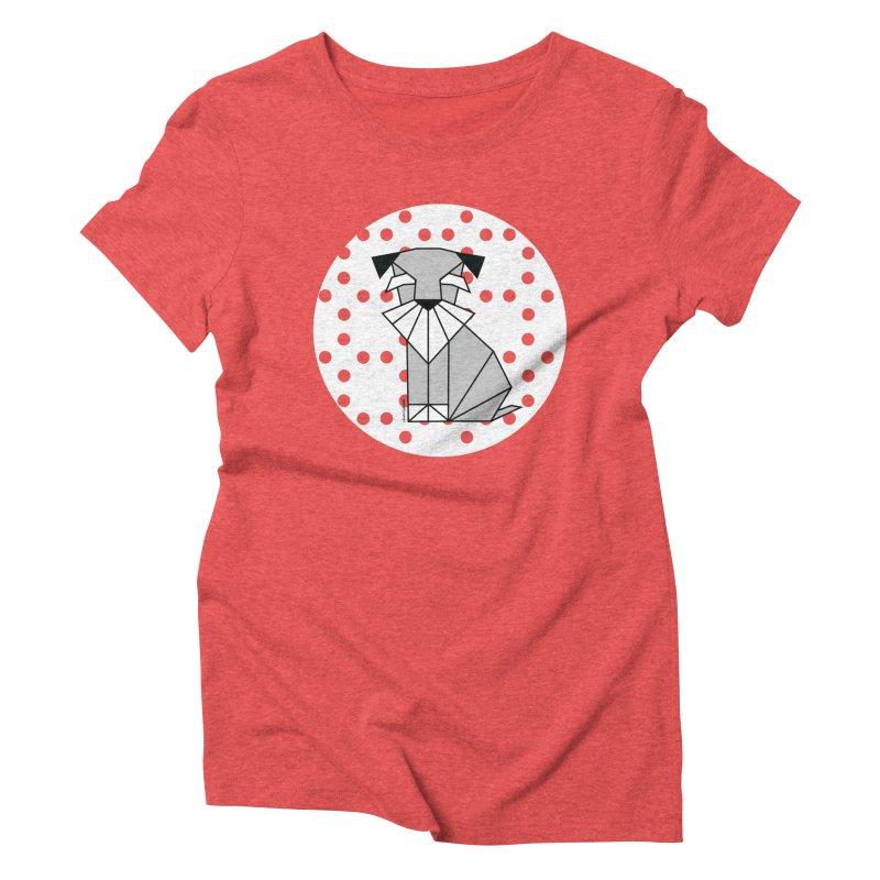 Spirited Schnauzer Women's Triblend T-shirt by cherished