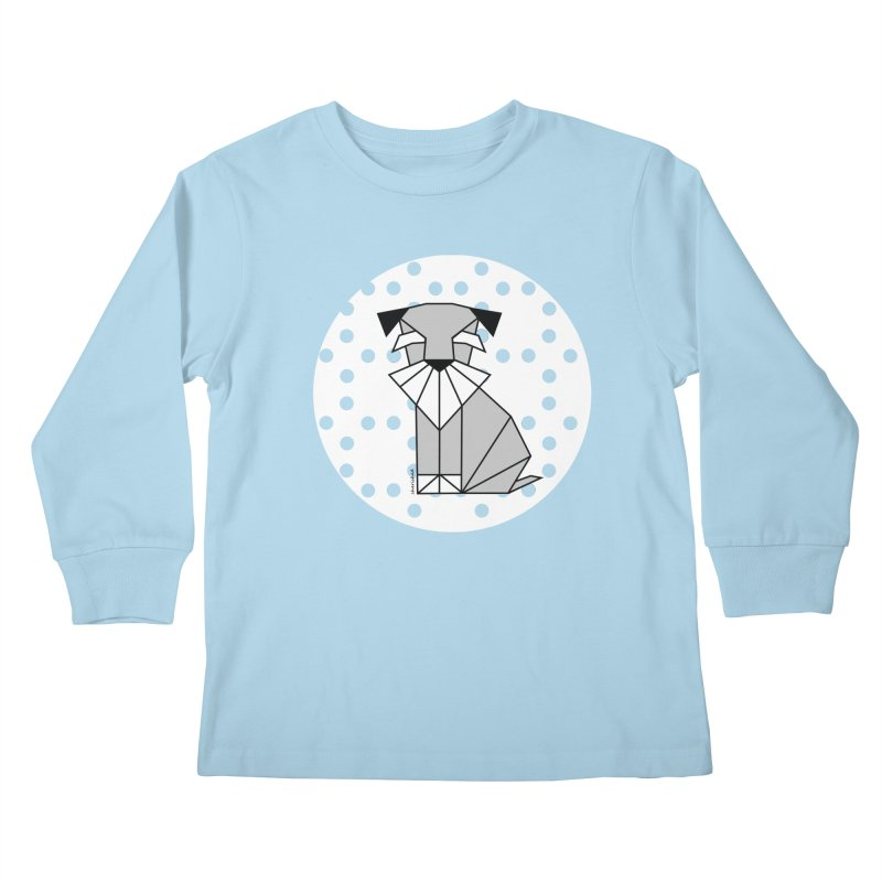 Spirited Schnauzer Kids Longsleeve T-Shirt by cherished