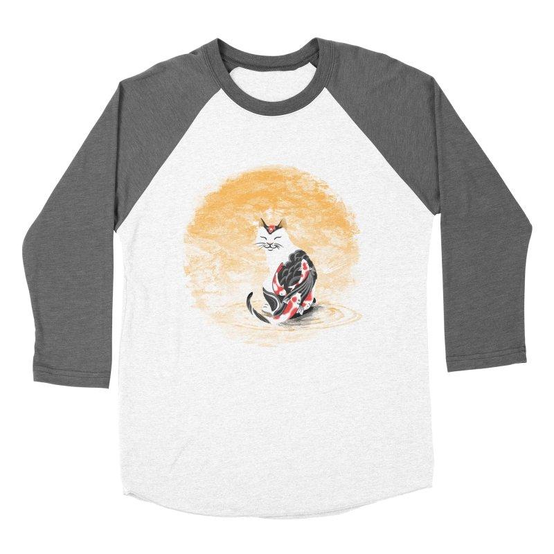Yakuza Cat Men's Baseball Triblend T-Shirt by cherished