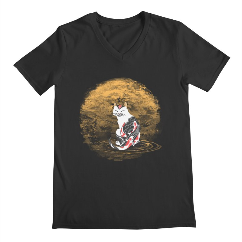 Yakuza Cat Men's V-Neck by cherished