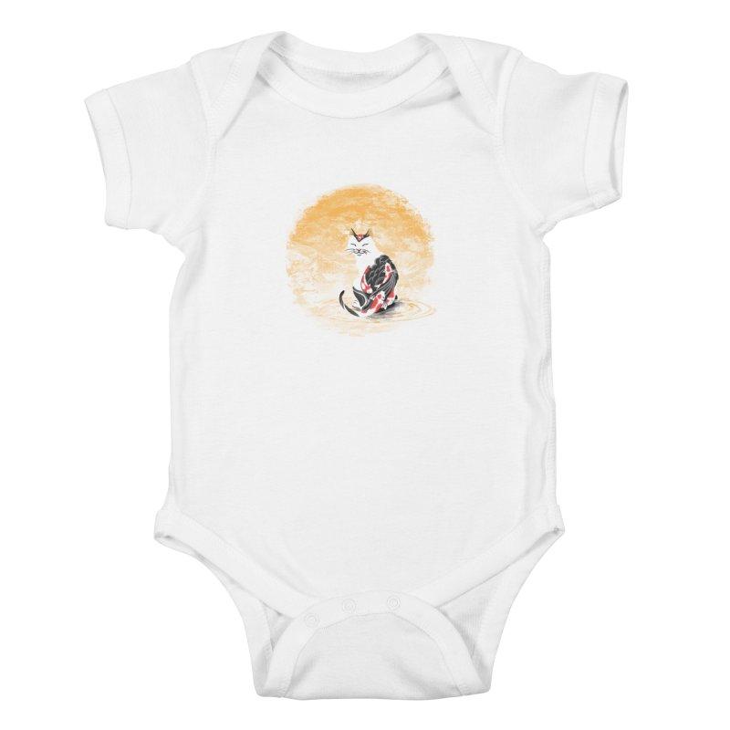 Yakuza Cat Kids Baby Bodysuit by cherished