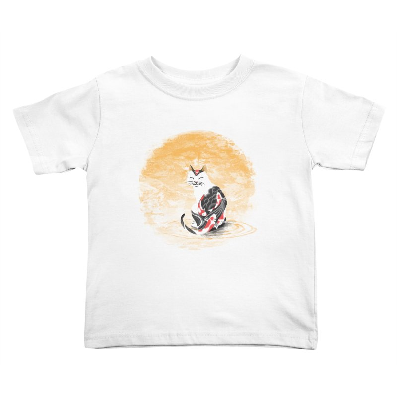 Yakuza Cat Kids Toddler T-Shirt by cherished