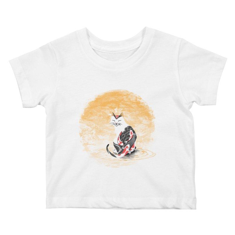 Yakuza Cat Kids Baby T-Shirt by cherished