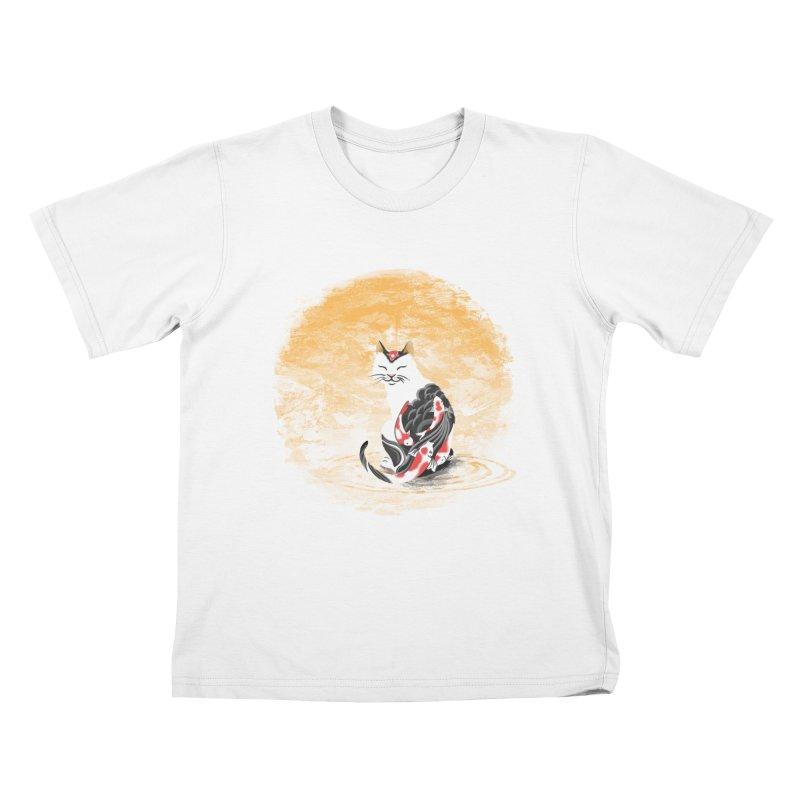 Yakuza Cat Kids T-shirt by cherished