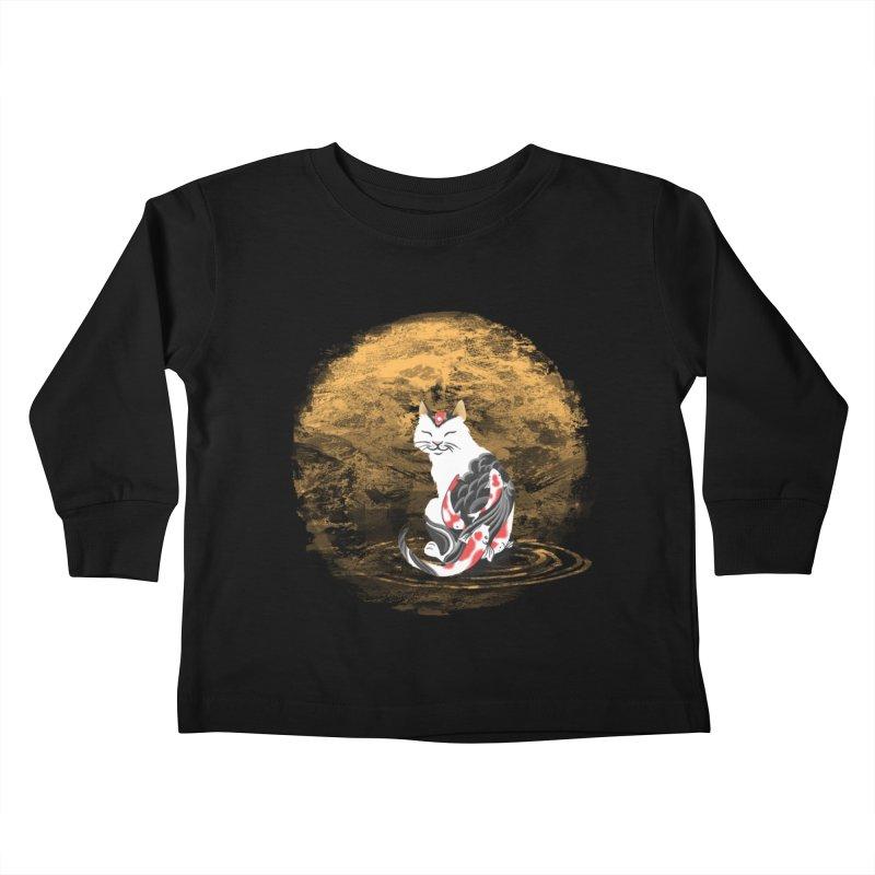 Yakuza Cat Kids Toddler Longsleeve T-Shirt by cherished