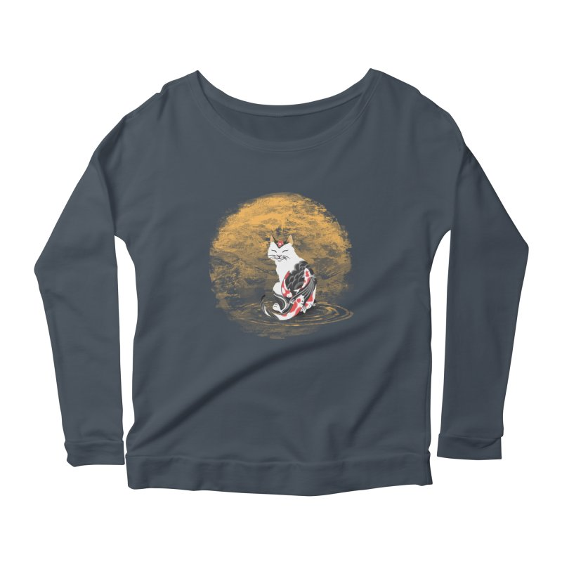 Yakuza Cat Women's Longsleeve Scoopneck  by cherished