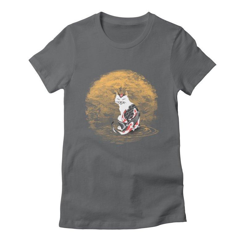 Yakuza Cat Women's Fitted T-Shirt by cherished