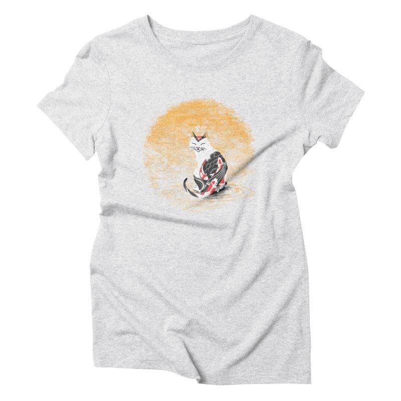 Yakuza Cat Women's Triblend T-shirt by cherished
