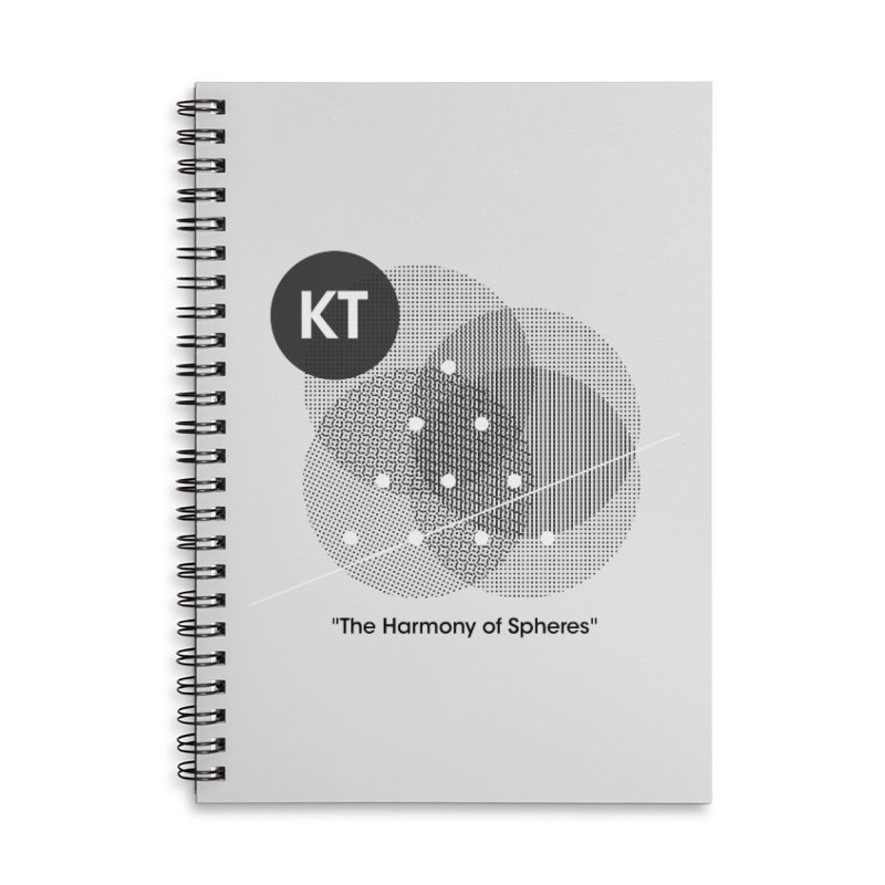 "KT ""The Harmony of Spheres"" (designed by Matt Klimas) Accessories Lined Spiral Notebook by The Cherub Records Shop"