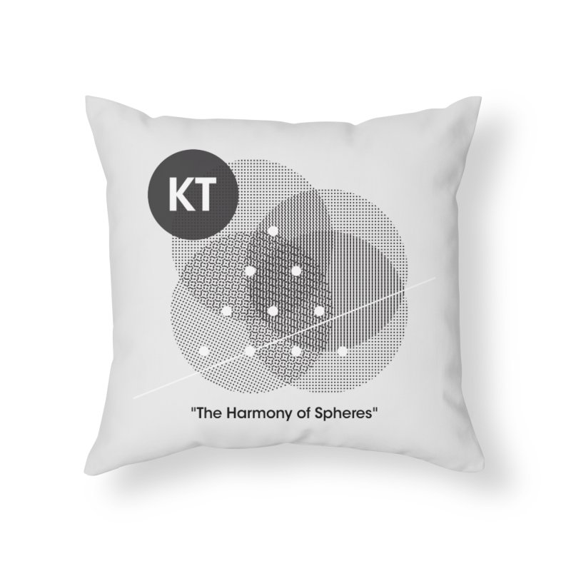 "KT ""The Harmony of Spheres"" (designed by Matt Klimas) Home Throw Pillow by The Cherub Records Shop"