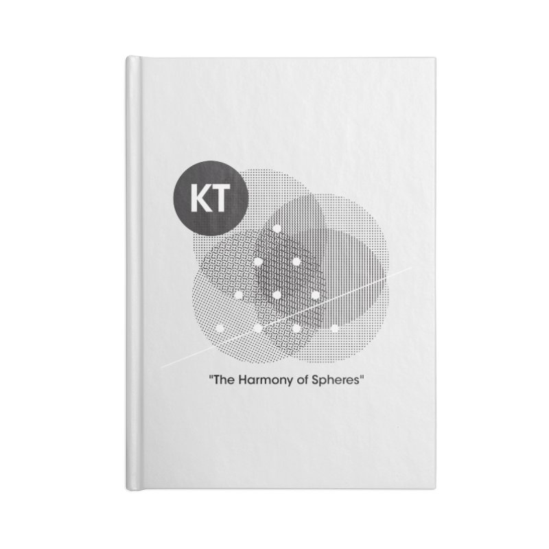 "KT ""The Harmony of Spheres"" (designed by Matt Klimas) Accessories Blank Journal Notebook by The Cherub Records Shop"