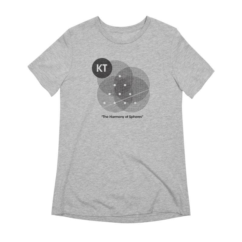 "KT ""The Harmony of Spheres"" (designed by Matt Klimas) Women's Extra Soft T-Shirt by The Cherub Records Shop"