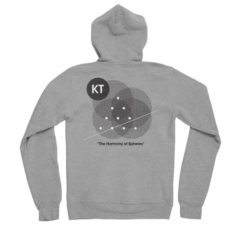 "KT ""The Harmony of Spheres"" (designed by Matt Klimas) Women's Sponge Fleece Zip-Up Hoody by The Cherub Records Shop"